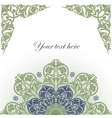 Frame With Baroque Ornaments vector image