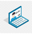 online education school webinar isometric icon vector image