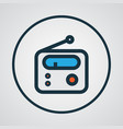 radio colorful outline symbol premium quality vector image