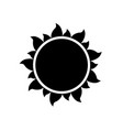 simple sun icon on white background vector image