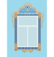 window with architraves typical of Russian vector image