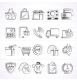 on line shop and E-commerce icons vector image