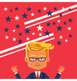 Image of cartoon businessman with hands up vector image