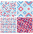 Set of four abstract geometric backgrounds vector image