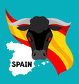 traditional spanish corrida bull on background vector image