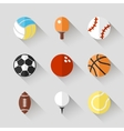 Sport balls icon set - white app buttons vector image vector image