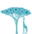 african giraffe and tree vector image