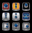 camera photography button logotype vector image