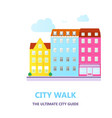 concept for city guide beautiful town houses vector image