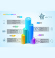 infographic design concept vector image