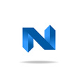 Letter N logo element website icon vector image