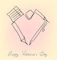 Office accessories valentine vector image