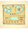 Sketch analog recorder vector image
