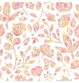 Textured pastel Leaves Seamless Pattern background vector image