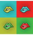 Hot Lips Pop Art vector image vector image