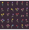 Beautiful silhouettes of tulips vector image