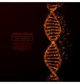 dna low poly flame red vector image