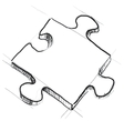 Piece of jigsaw puzzle vector image