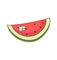 A piece of watermelon vector image
