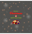 Merry Christmas message and presents vector image vector image
