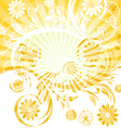 sunny floral ornament vector image vector image