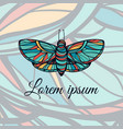 colorful hand drawn butterfly doodle style logo vector image