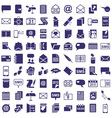 message letter icons on white vector image