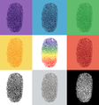 Set of colorful fingerprint vector image