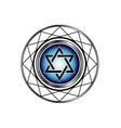 Star of David- Jewish religious symbol vector image