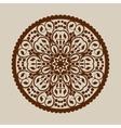 Template mandala pattern for decorative rosette vector image