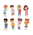 Sick children set vector image