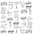 Music object pack doodles vector image