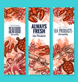 seafood and fish food product banners vector image