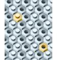 bolts and screws 3D pattern  vector image