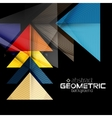 Textured paper geometric shapes on black vector image