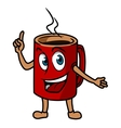 Cartoon tea cup vector image