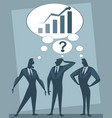 discussion of three businessmen vector image