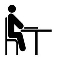 Man with notepad - stick the black color icon vector image
