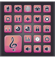 Media player universal buttons vector image