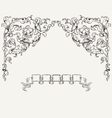 Ornate Angles And Banner vector image