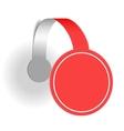 Red advertising wobbler vector image