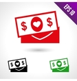 Set of of a money for wedding vector image