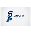 warrior icon vector image