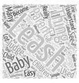 baby leash Word Cloud Concept vector image