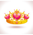 beautiful golden princess crown vector image