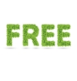 Free text of green leaves vector image vector image