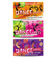 Templates of dance party flyers vector image
