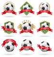 Soccer labels set vector image