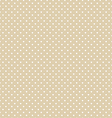 Brown Polka Dot Seamless Pattern Background vector image vector image