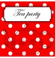 Tea party background vector image